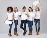 Serious multi ethnic women Stock Photography
