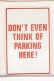 Serious No Parking Sign Stock Photography