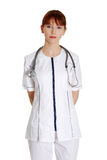 Serious nurse or young female medical doctor Stock Photography