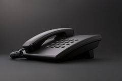 Serious office tool - black phone Royalty Free Stock Photography