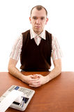 Serious office worker. royalty free stock photos