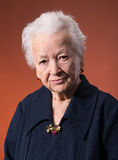 Serious old woman Royalty Free Stock Photography