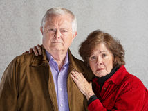 Serious Older Couple Royalty Free Stock Photos