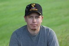 Serious Operation Iraqi Freedom Veteran. Young Generation X Operation Iraqi Freedom Veteran Stock Photography