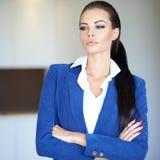Serious pensive businesswoman Stock Photos