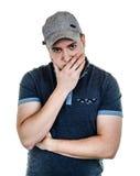 Serious, pensive man portrait Stock Photos