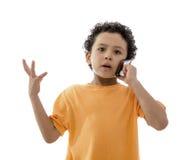 Serious Phone Call Stock Image