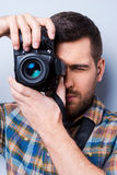 Serious photographer. Royalty Free Stock Photo