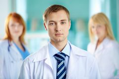 Serious physician Stock Images