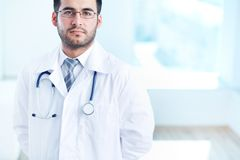 Serious physician Stock Image
