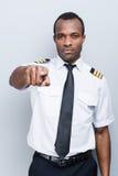 Serious pilot. Stock Photo