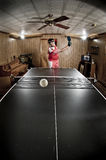 Serious Ping Pong Player Guy Royalty Free Stock Images