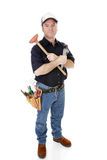 Serious Plumber Isolated Stock Photography