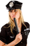 Serious police girl Royalty Free Stock Photo