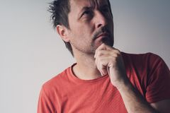 Serious portrait of man, real people Stock Photos
