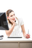 Serious but positive office worker Stock Photography