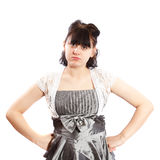 Serious pregnant woman Royalty Free Stock Image