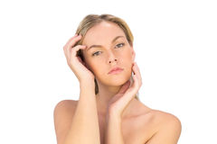 Serious pretty bare blonde posing Royalty Free Stock Photography