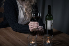 Serious problem with drinking Royalty Free Stock Photo