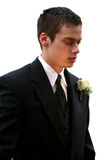 Serious Prom Boy Isolated Stock Images