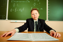Serious pupil Royalty Free Stock Images