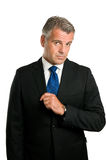 Serious and puzzled mature businessman Royalty Free Stock Images