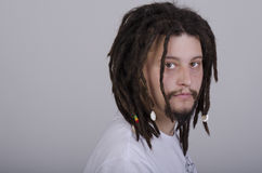 Serious rasta guy Stock Photo