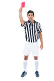 Serious referee showing red card Stock Photography