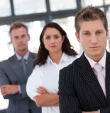 Serious Resolute and Confident Businessman Stock Photo