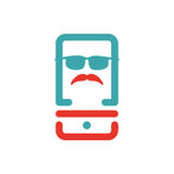 Serious retro man icon vector illustration. Stock Images