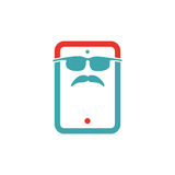 Serious retro man icon vector illustration. Stock Photography