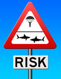 Serious risk. Taking a serious and dangerous risk Royalty Free Stock Images