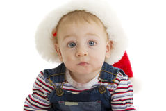 Serious Santa baby Stock Photography