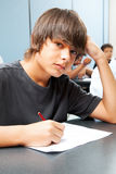 Serious School Boy Royalty Free Stock Photography