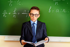 Serious schoolboy Stock Photos