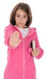 Serious schoolgirl with Stock Photos