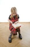 Serious  schoolgirl Royalty Free Stock Photography
