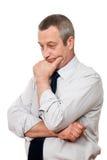 Serious senior businessman Royalty Free Stock Image