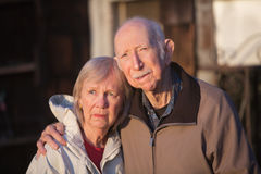 Serious Senior Couple Stock Photography