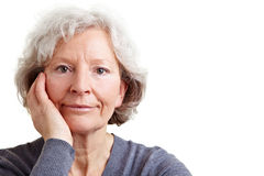 Serious senior woman Stock Image