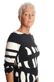 Serious senior woman stock photos
