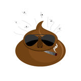 Serious  Shit. turd in dark glasses and cigar. Stock Image