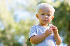 Serious small boy thinking about something important. Thoughts. Serious small boy looking calm while thinking about something important royalty free stock photos
