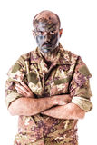 Serious Soldier Stock Photography