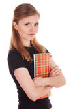 Serious student with a note pad in his hands Royalty Free Stock Photography
