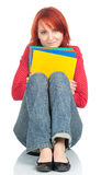 Serious student woman Royalty Free Stock Photo