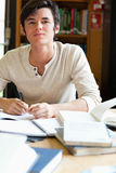 Serious student working Royalty Free Stock Photo