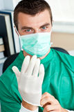 Serious surgeon with mask Royalty Free Stock Images