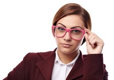 Serious teacher with glasses Stock Photography