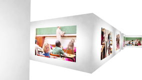Serious teacher showing school life Royalty Free Stock Photos